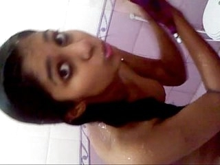 Hot Pakistani teen not far from chum around with annoy shower