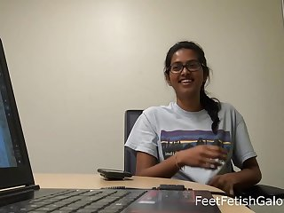 Indian Elfin University Students Red-hot Toes Soles Private showing
